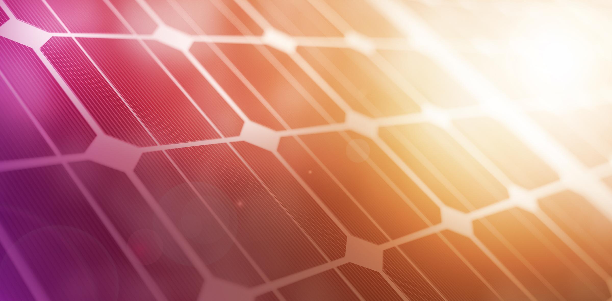 Stylized closeup of a solar panel.